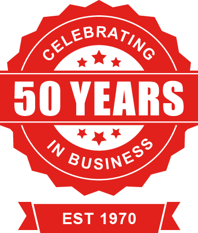 Celebrating 50 Years in Business - Established 1970